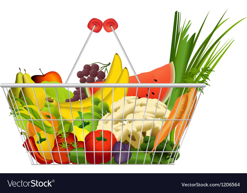 Diet basket vector | Price: 1 Credit (USD $1)