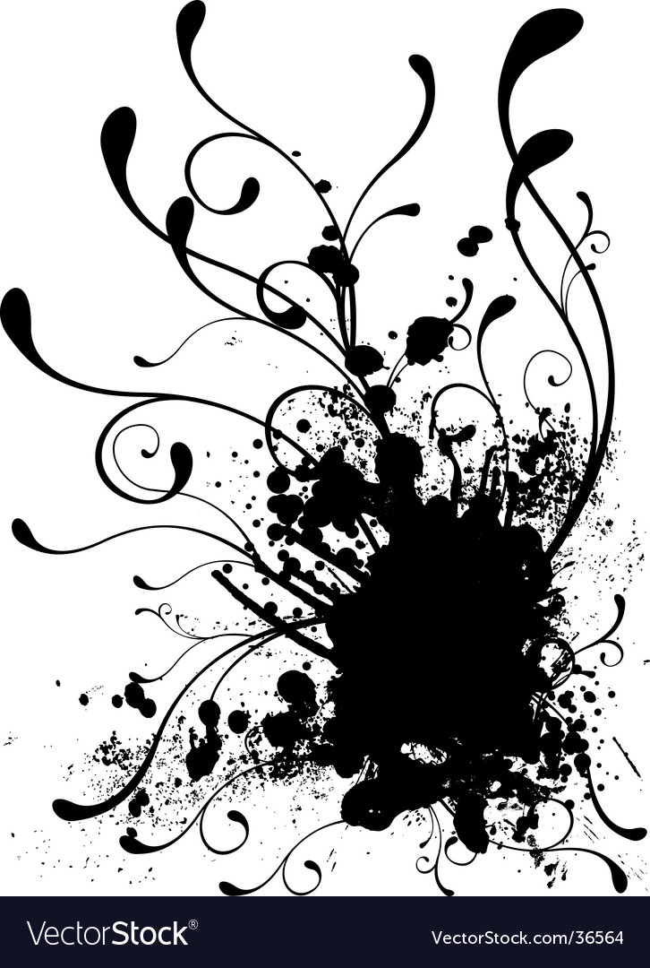 Floral splat vector | Price: 1 Credit (USD $1)