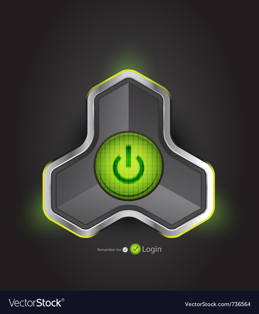 Futuristic power button vector | Price: 1 Credit (USD $1)