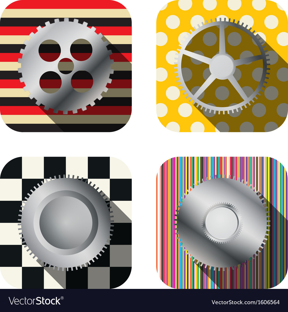 Metal gear icons vector   Price: 1 Credit (USD $1)