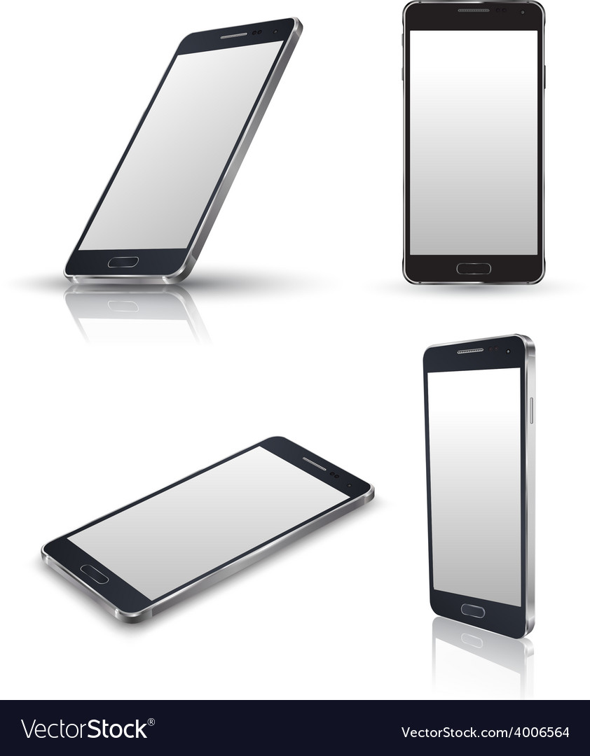 Mobile phone isolated set vector | Price: 1 Credit (USD $1)