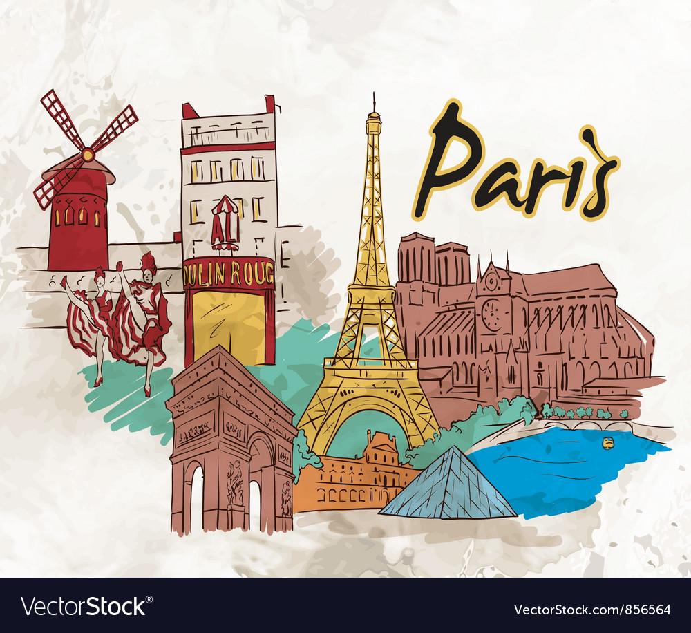 Paris doodles vector   Price: 3 Credit (USD $3)