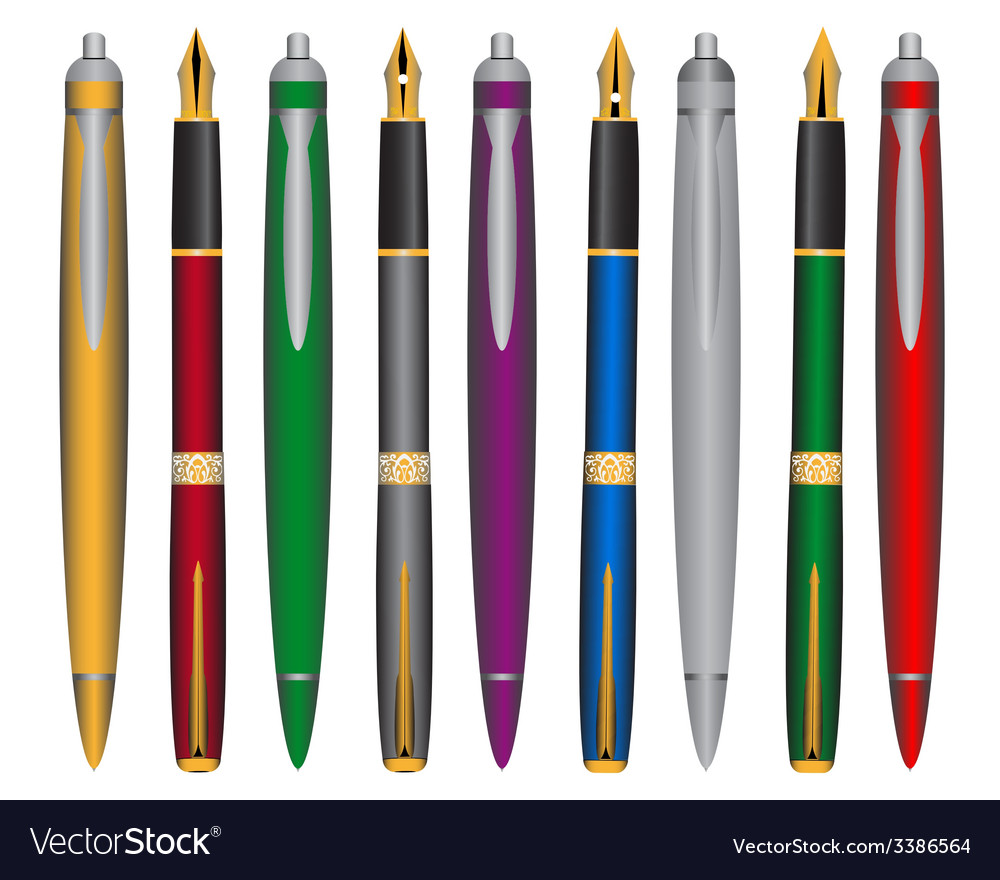 Pen and ink pens vector | Price: 1 Credit (USD $1)