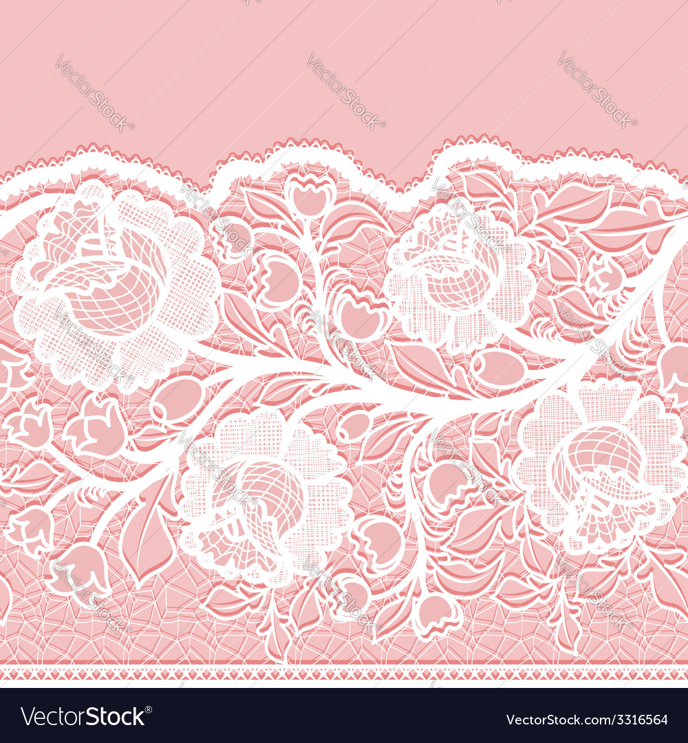 Seamless horizontal lace ribbon with unusual vector | Price: 1 Credit (USD $1)