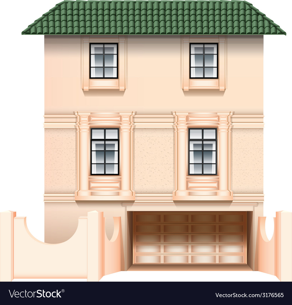 A big house vector | Price: 1 Credit (USD $1)