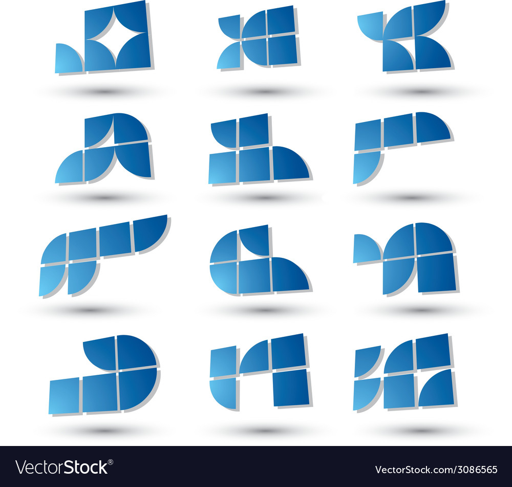 Abstract 3d simple symbols set geometric abstract vector | Price: 1 Credit (USD $1)