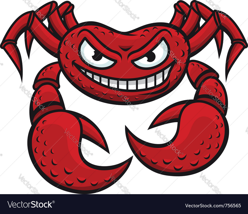Angry red crab vector | Price: 1 Credit (USD $1)