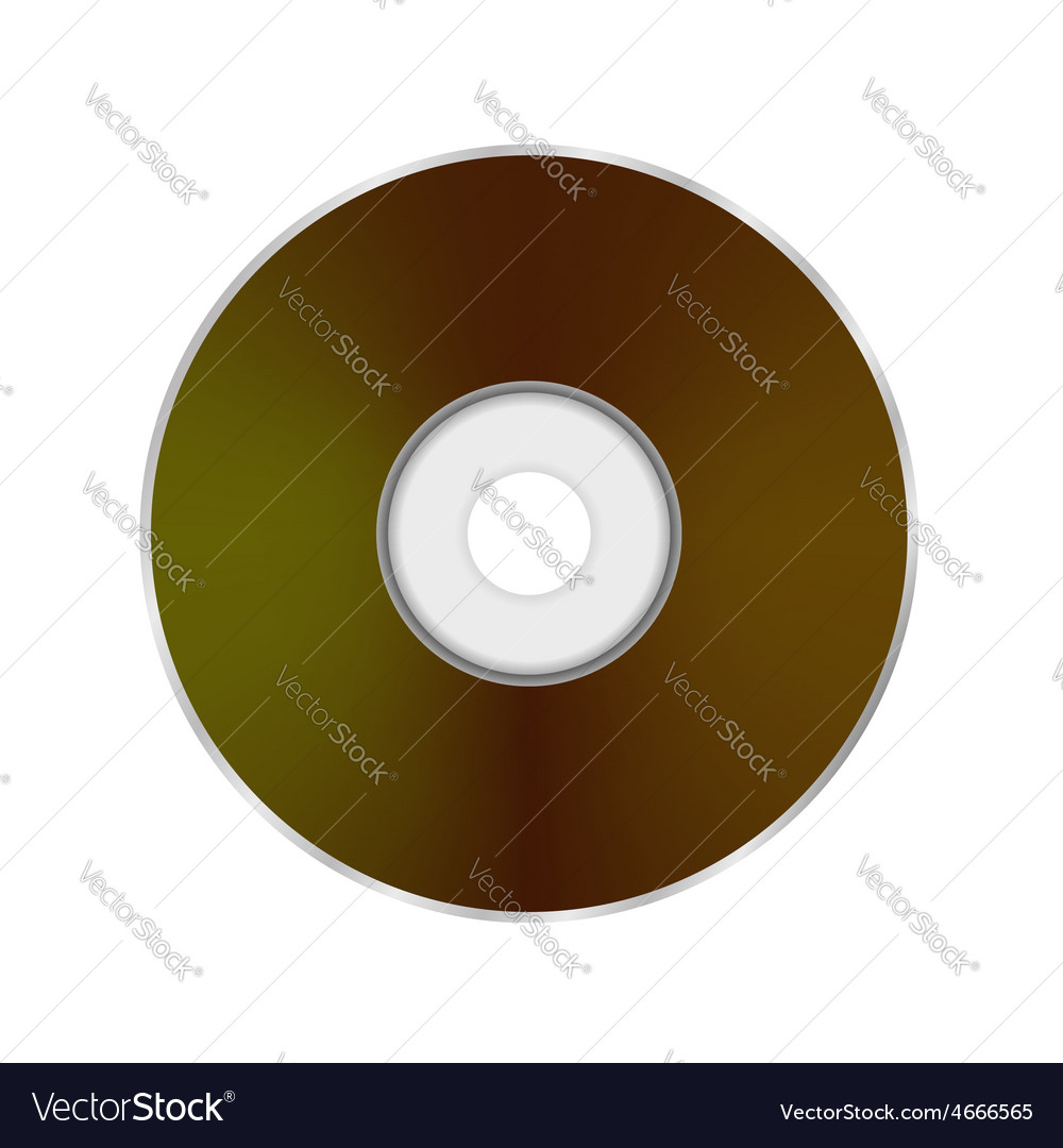 Compact disc icon vector | Price: 1 Credit (USD $1)