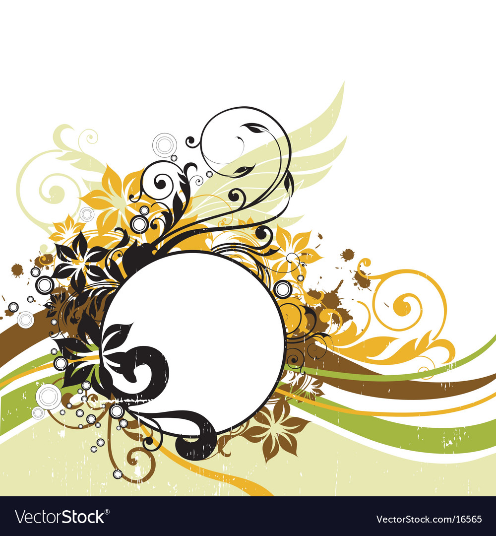 Floral graphic background frame vector | Price: 1 Credit (USD $1)