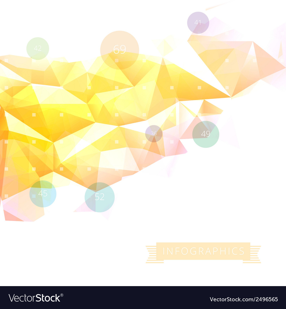 Geometric low poly background infographics vector | Price: 1 Credit (USD $1)