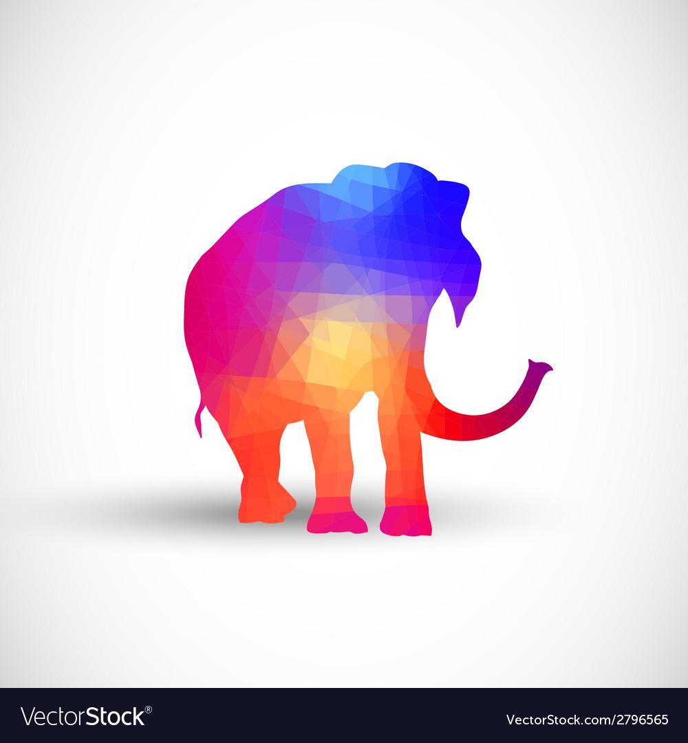Geometric silhouettes animals elephant vector | Price: 1 Credit (USD $1)