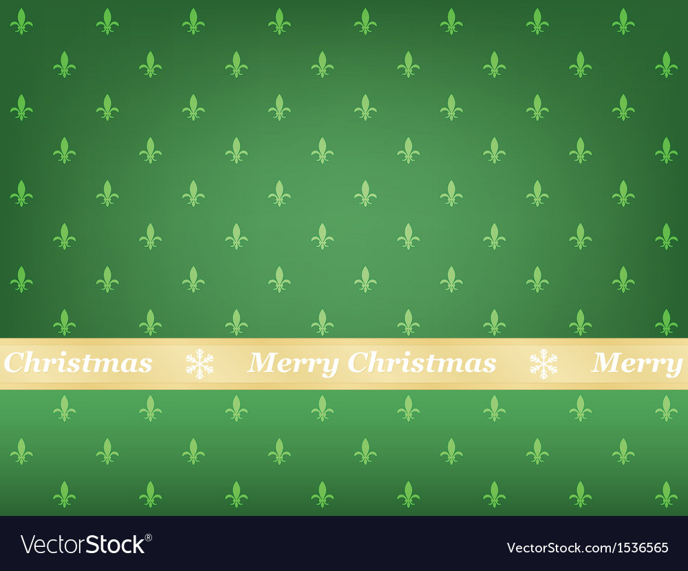 Green merry christmas background vector | Price: 1 Credit (USD $1)