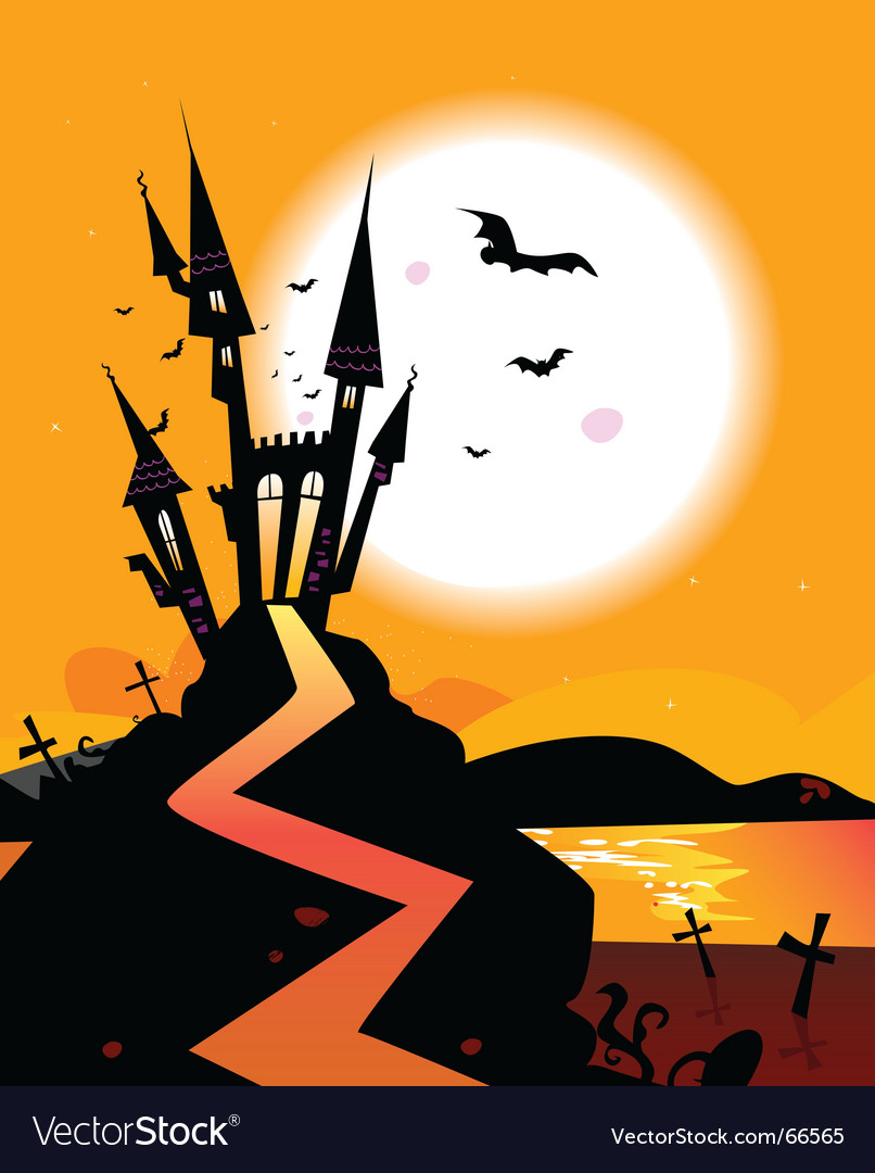 Haunted castle vector | Price: 1 Credit (USD $1)