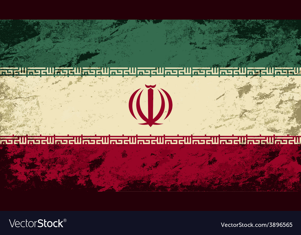 Iranian flag grunge background vector   Price: 1 Credit (USD $1)