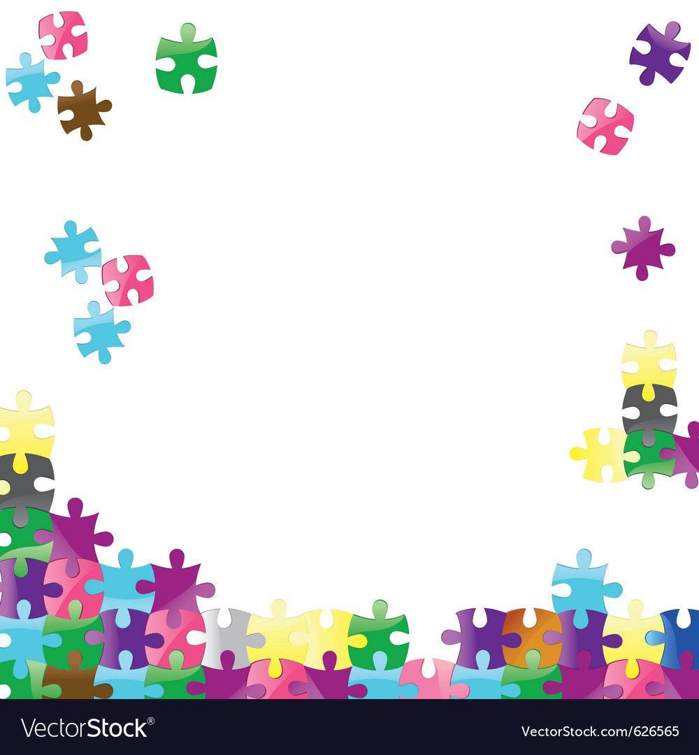 Jigsaw puzzle connection background abstract vector | Price: 1 Credit (USD $1)