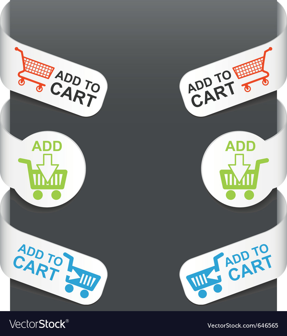 Left and right side signs - add to cart vector | Price: 1 Credit (USD $1)