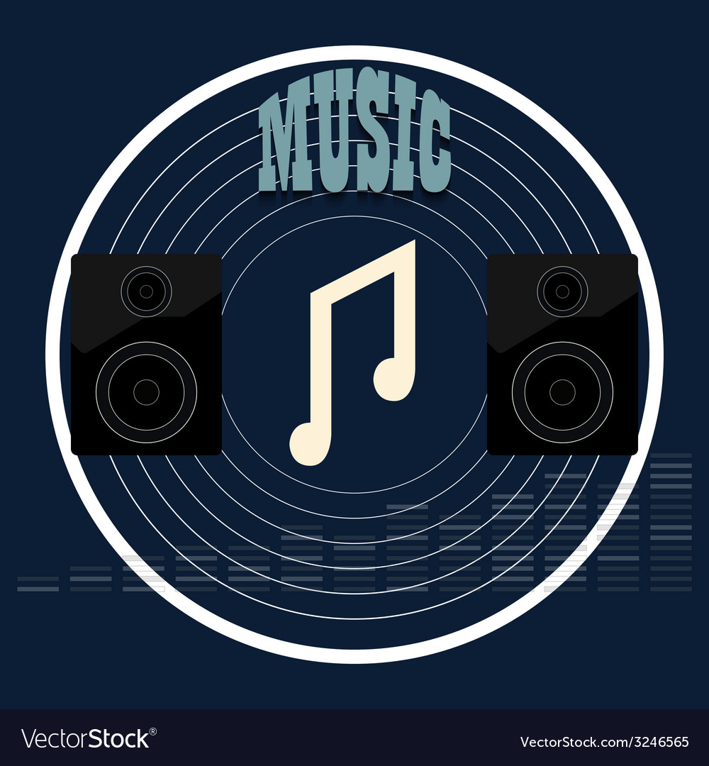 Musical album vector | Price: 1 Credit (USD $1)
