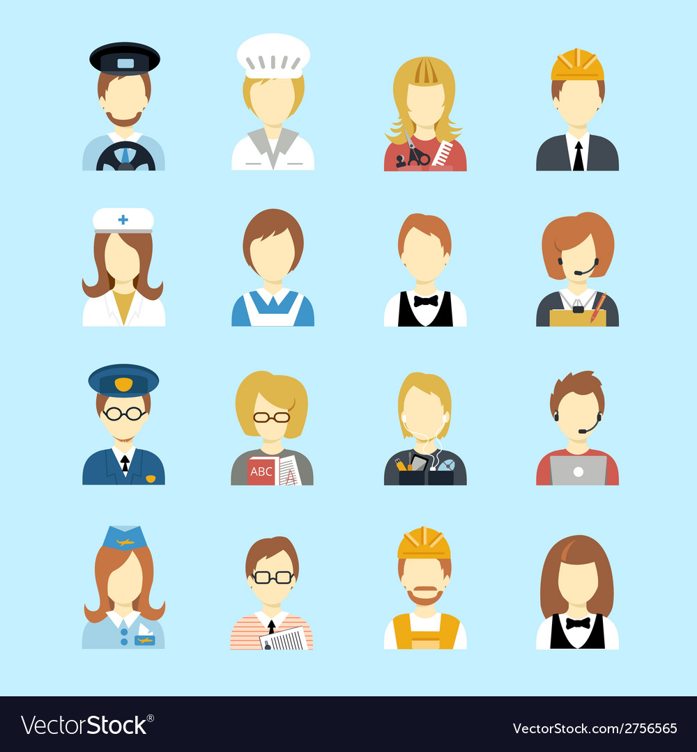 Profession avatar vector | Price: 3 Credit (USD $3)