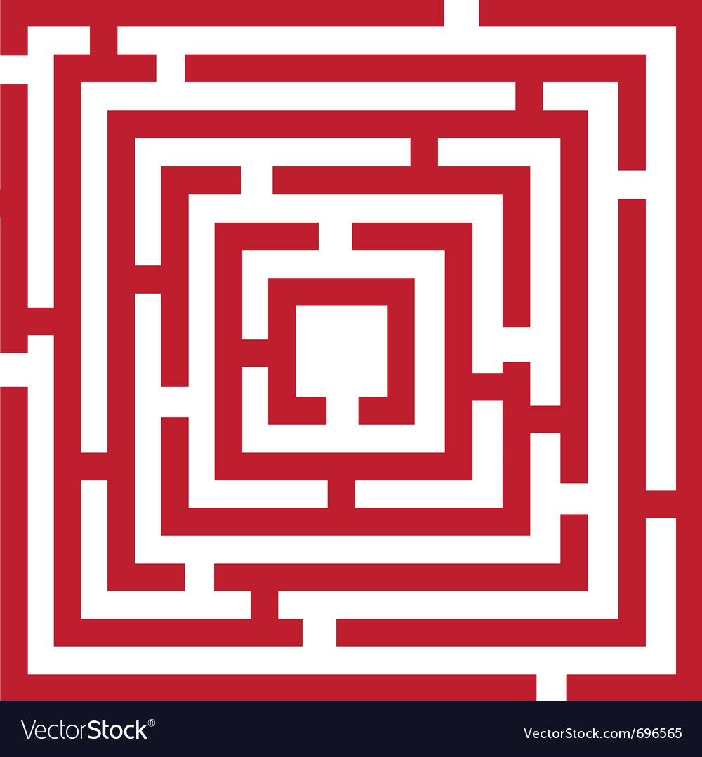 Red maze vector | Price: 1 Credit (USD $1)