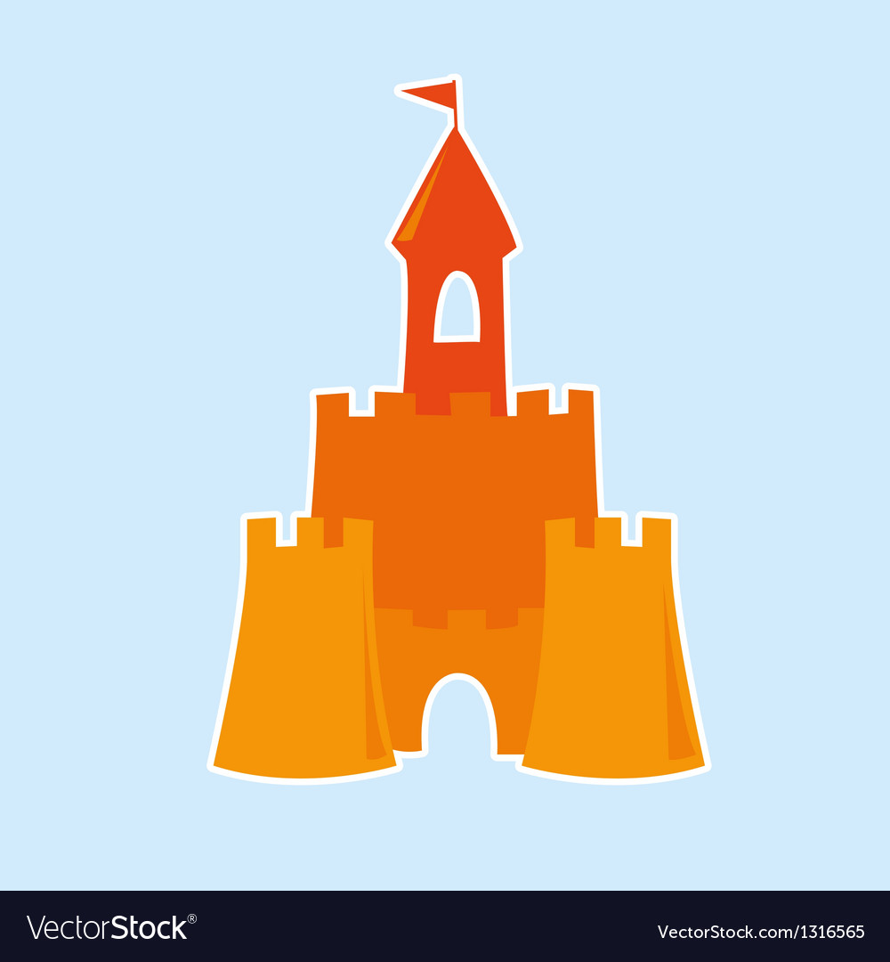 Sand castle vector | Price: 1 Credit (USD $1)