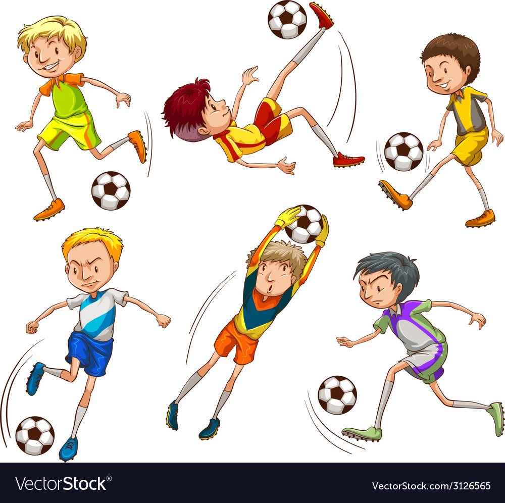 Sketches of the soccer players vector | Price: 1 Credit (USD $1)