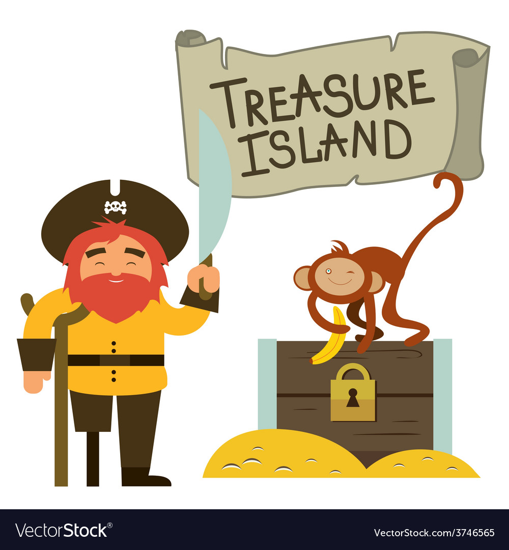 Treasure island clip art vector | Price: 1 Credit (USD $1)