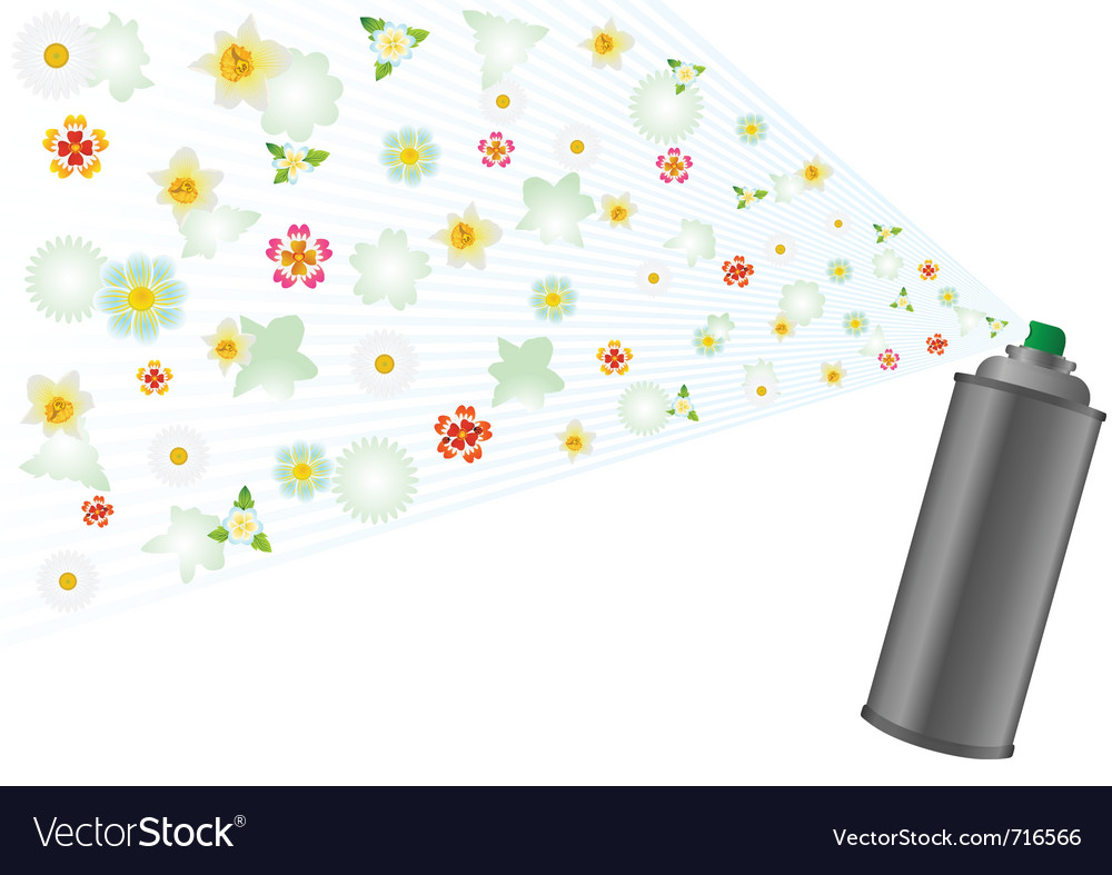 Aerosol and flowers vector | Price: 1 Credit (USD $1)