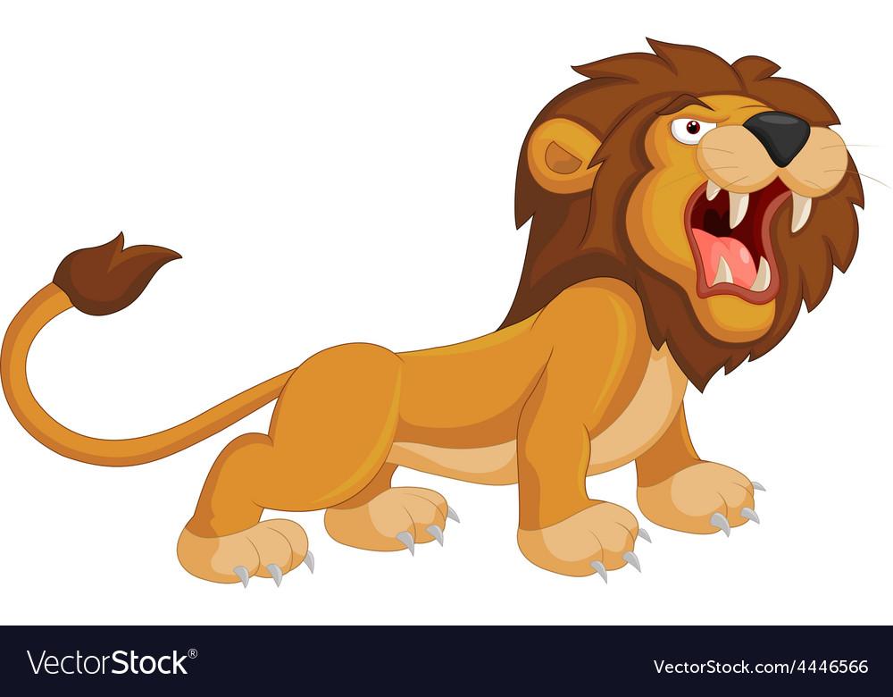 Cartoon lion roaring vector   Price: 1 Credit (USD $1)