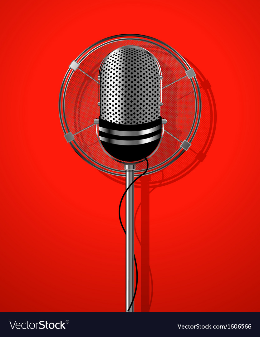Classic radio microphone vector | Price: 1 Credit (USD $1)