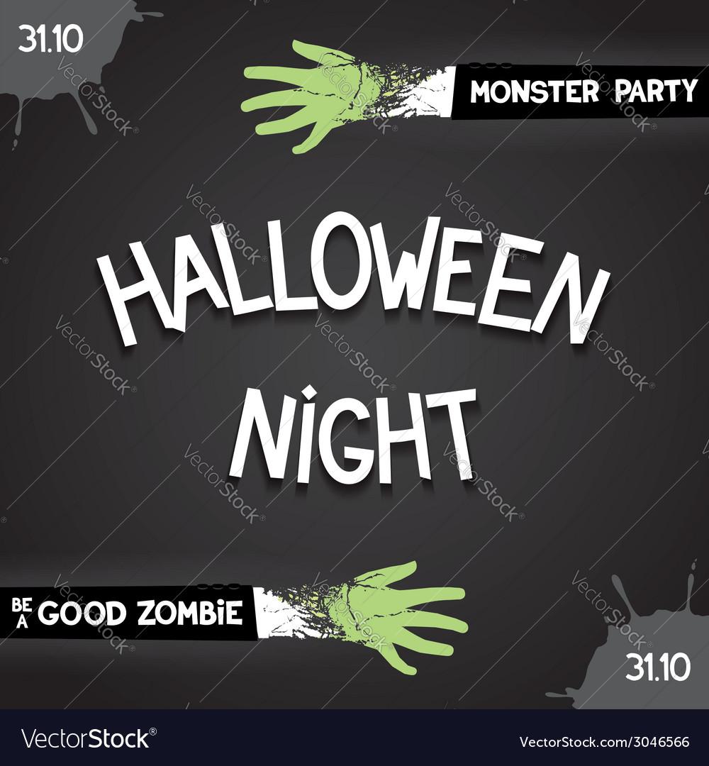 Halloween night party vector | Price: 1 Credit (USD $1)