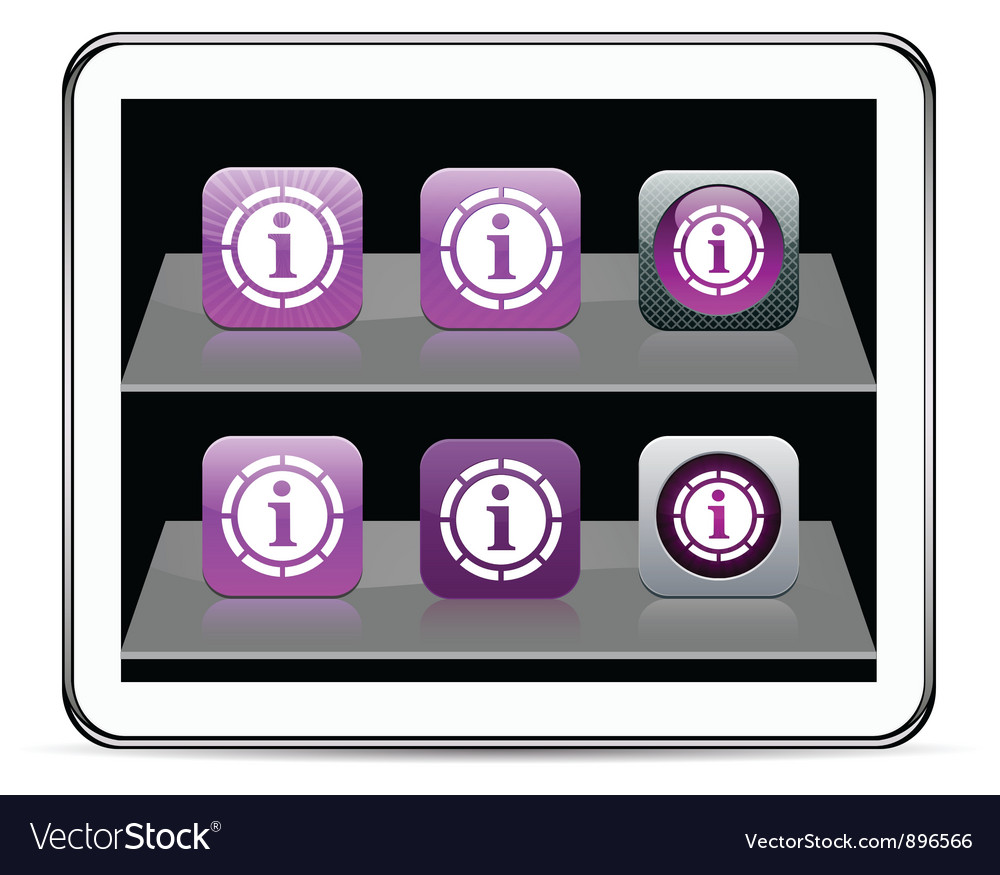 Information purple app icons vector | Price: 1 Credit (USD $1)