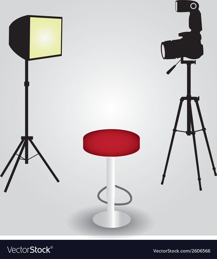 Photo studio equipment with camera eps10 vector | Price: 1 Credit (USD $1)
