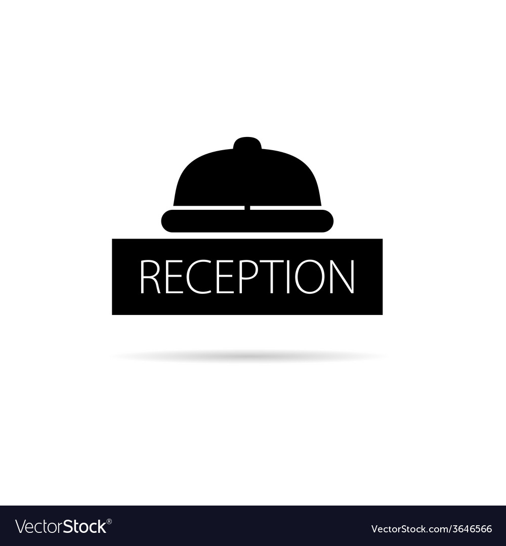 Reception bell icon vector | Price: 1 Credit (USD $1)