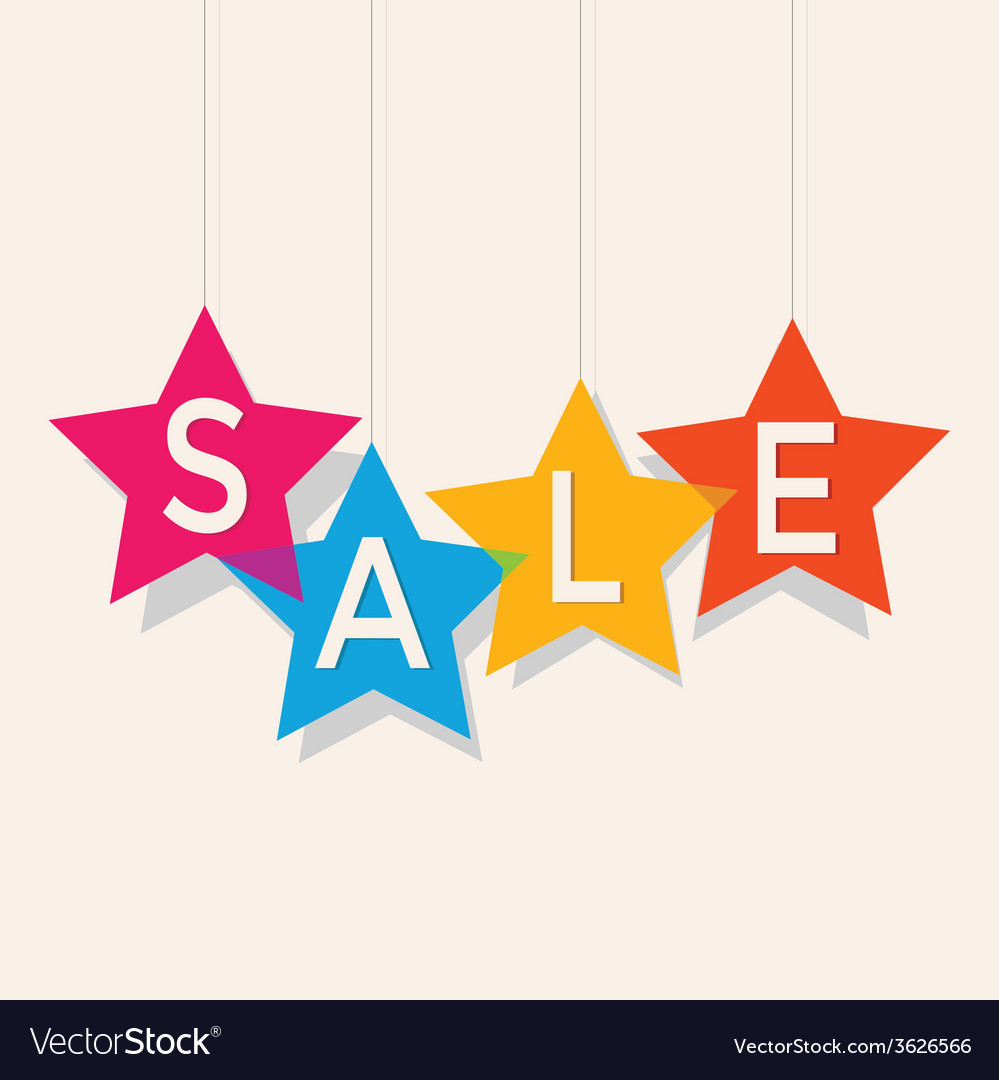 Sale price labels vector | Price: 1 Credit (USD $1)