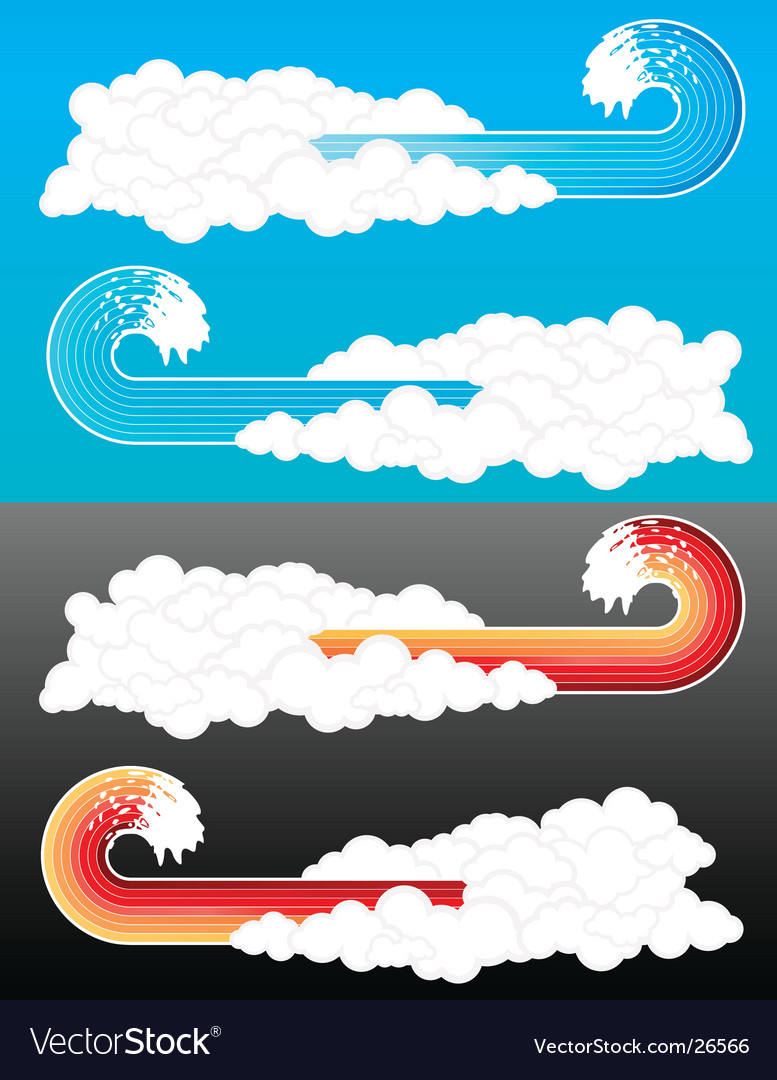 Splash wave cloudy elements vector | Price: 1 Credit (USD $1)