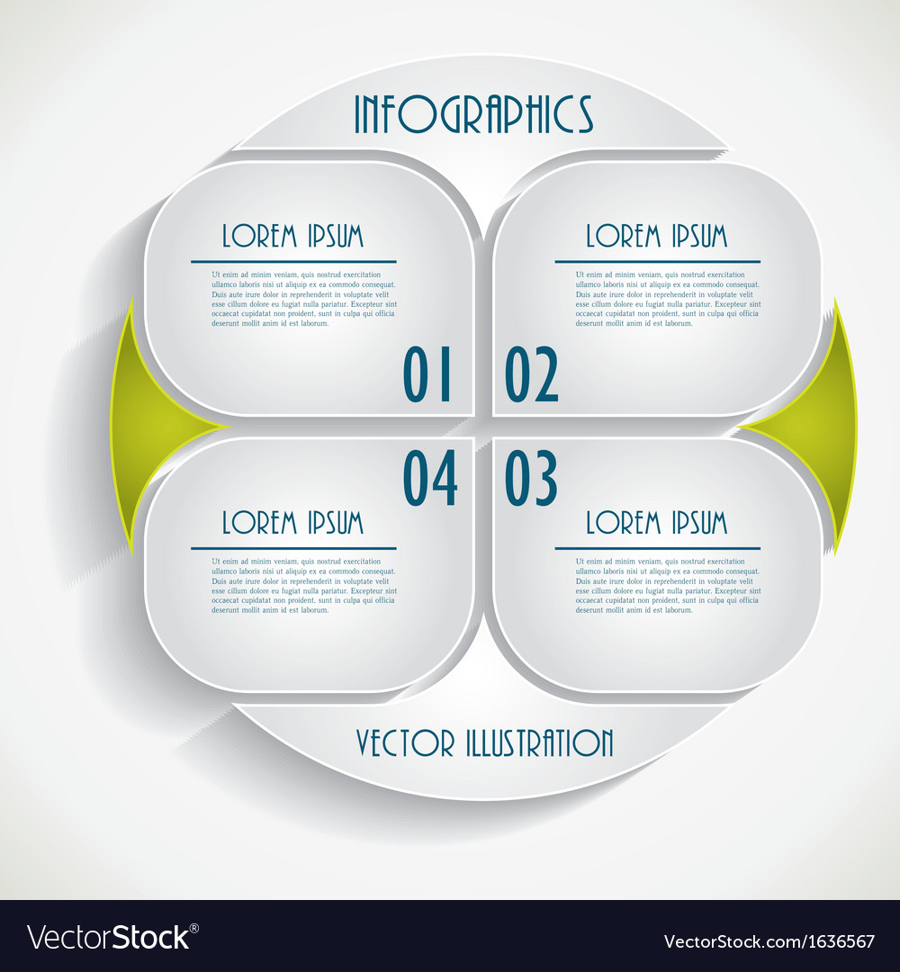 Abstract infographic business template vector | Price: 1 Credit (USD $1)