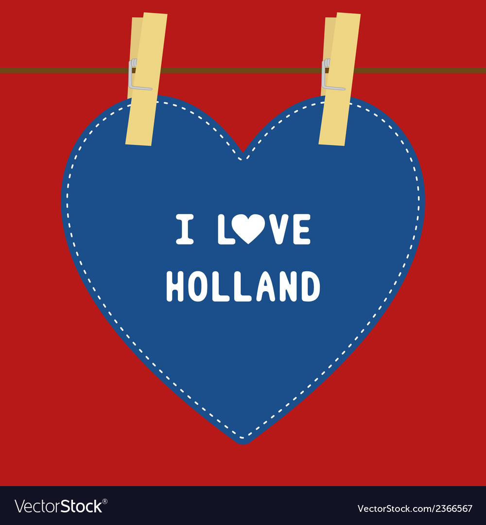 I love holland5 vector | Price: 1 Credit (USD $1)