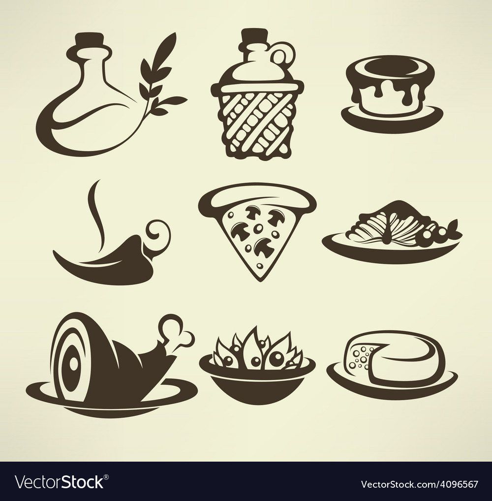 Italian food vector | Price: 1 Credit (USD $1)