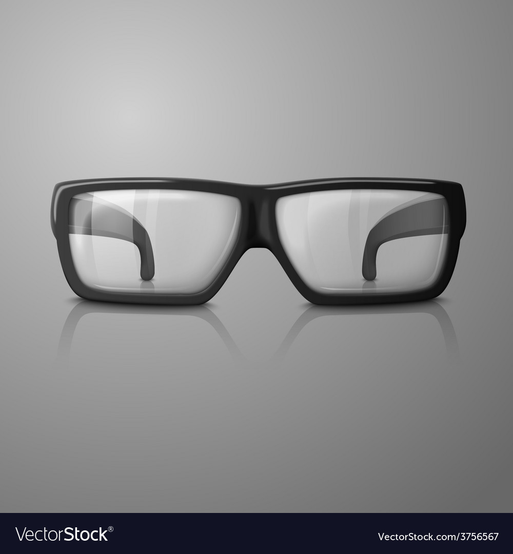 Realistic glasses with transparent glass vector | Price: 1 Credit (USD $1)