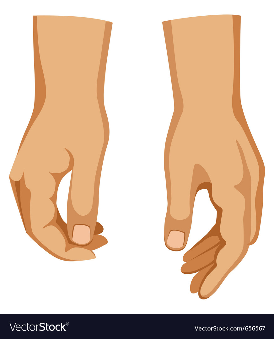 Two hands vector | Price: 1 Credit (USD $1)