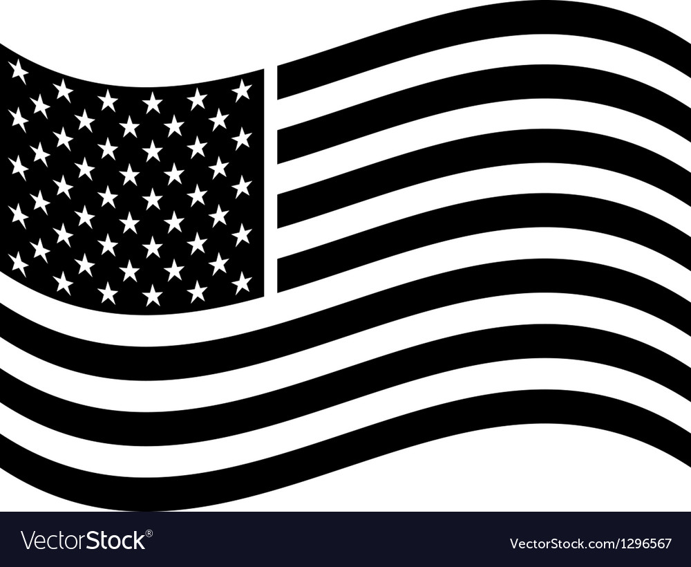 Waving american flag vector | Price: 1 Credit (USD $1)