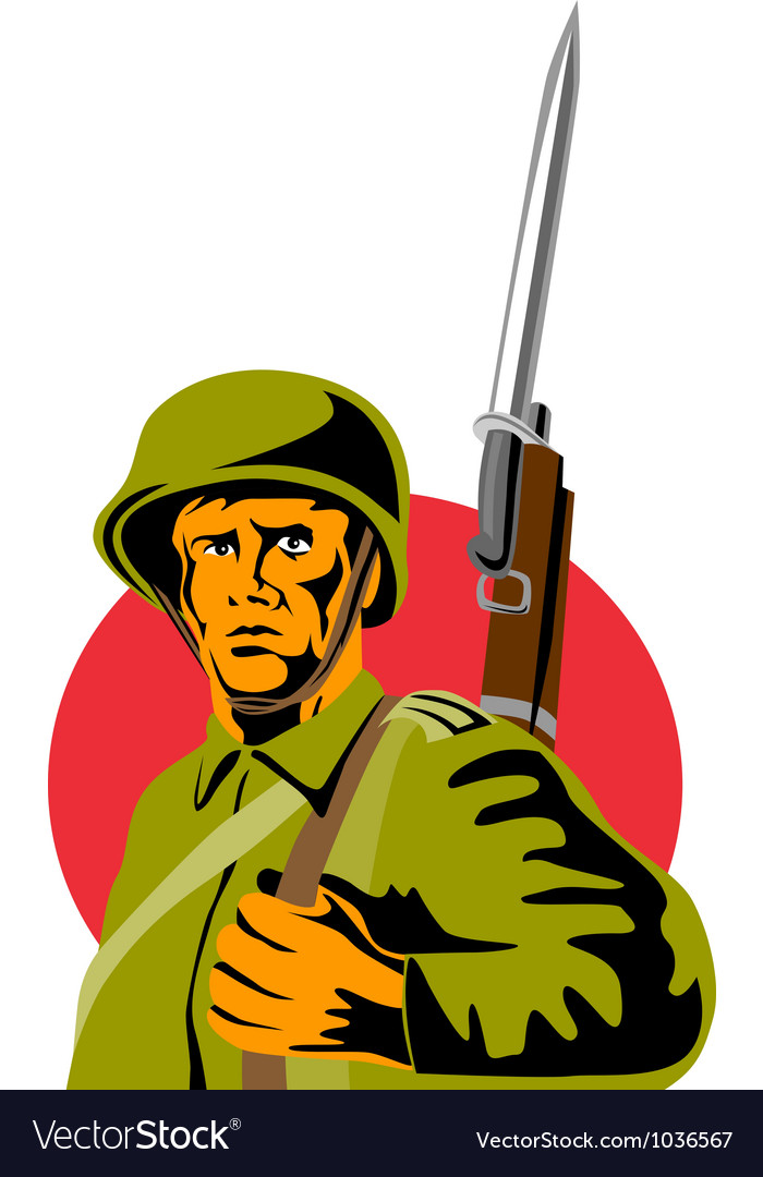 World war two american soldier vector | Price: 1 Credit (USD $1)