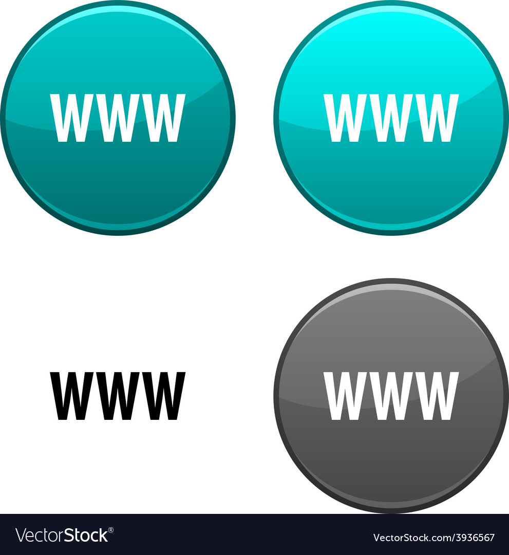 Www button vector | Price: 1 Credit (USD $1)