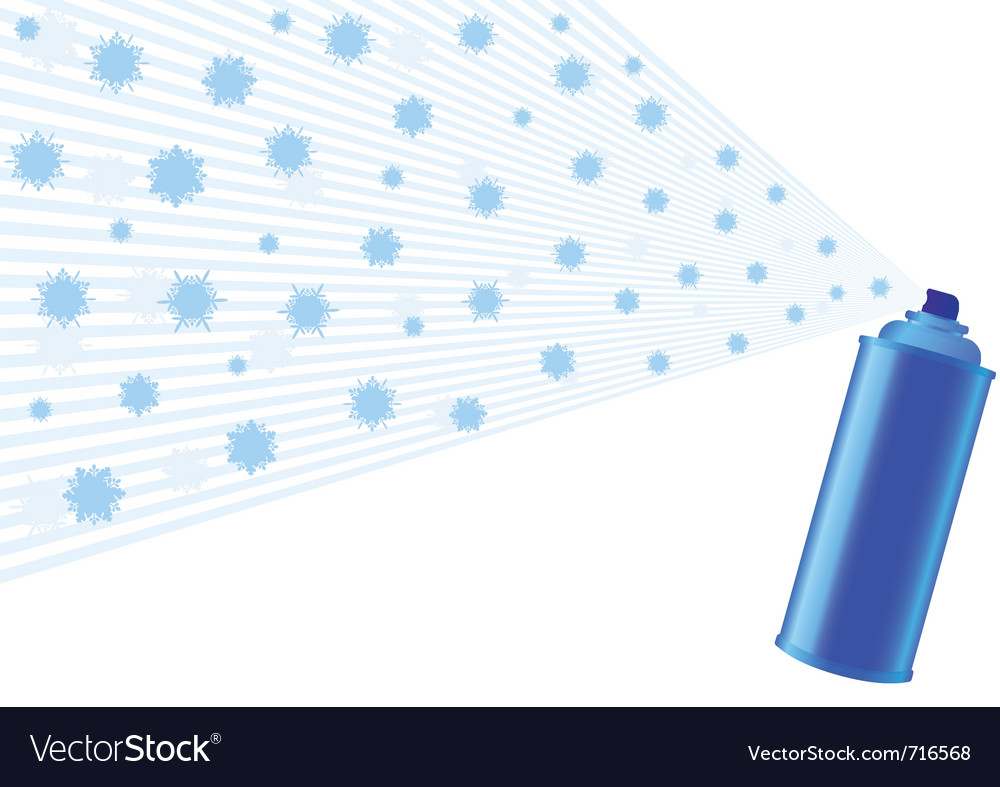 Aerosol and snowflakes vector | Price: 1 Credit (USD $1)