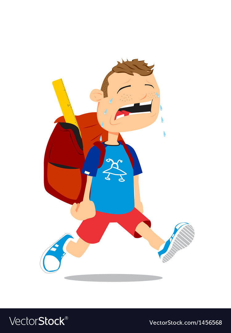Back to school boy vector | Price: 1 Credit (USD $1)