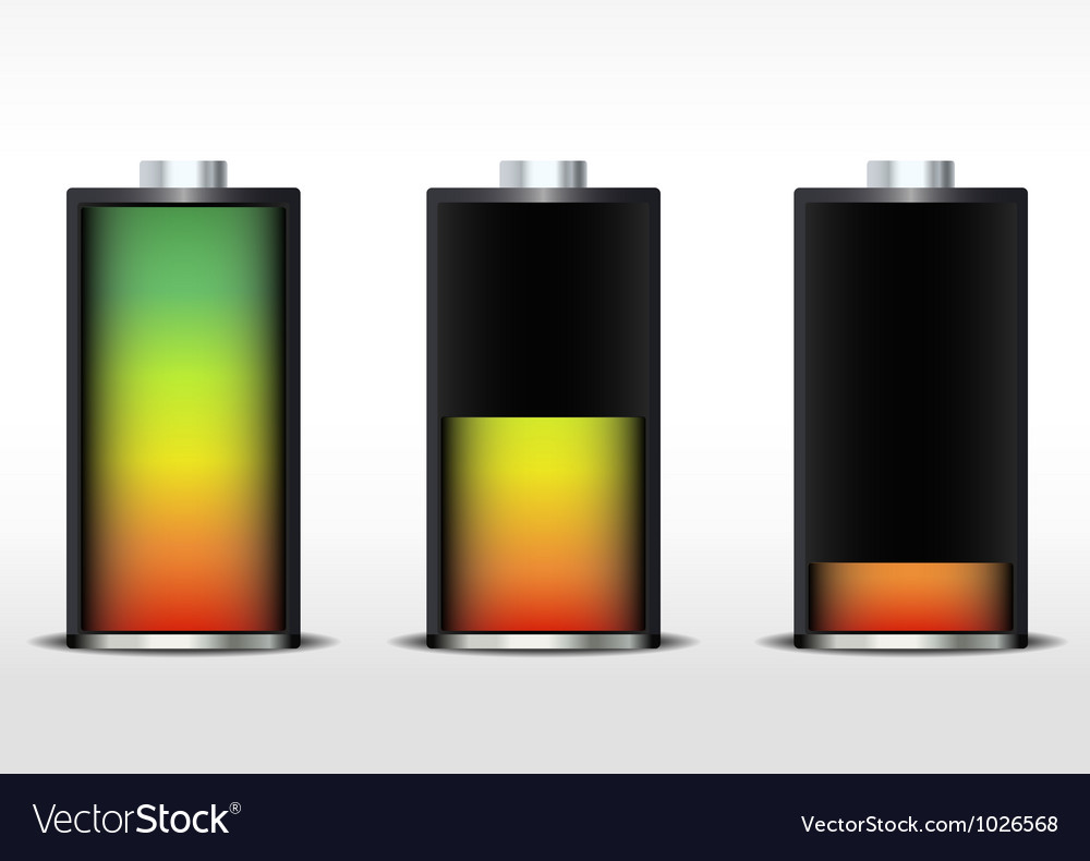 Battery gradient vector | Price: 1 Credit (USD $1)