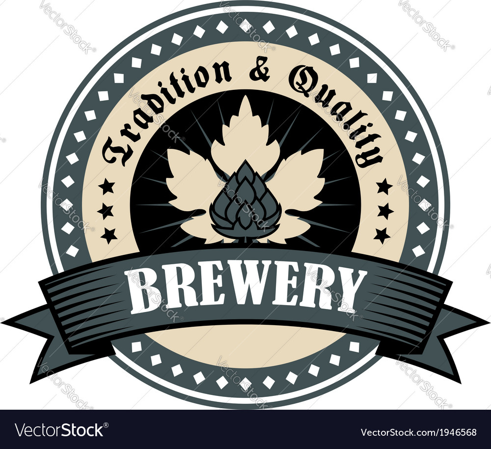 Brewery icon for tradition and quality vector | Price: 1 Credit (USD $1)