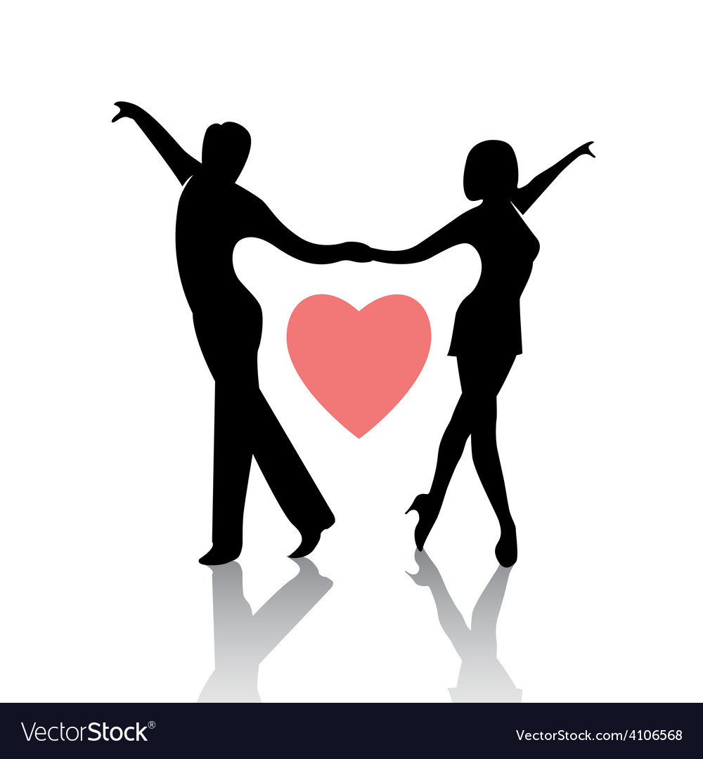 Dancing couple isolated on a white background vector | Price: 1 Credit (USD $1)