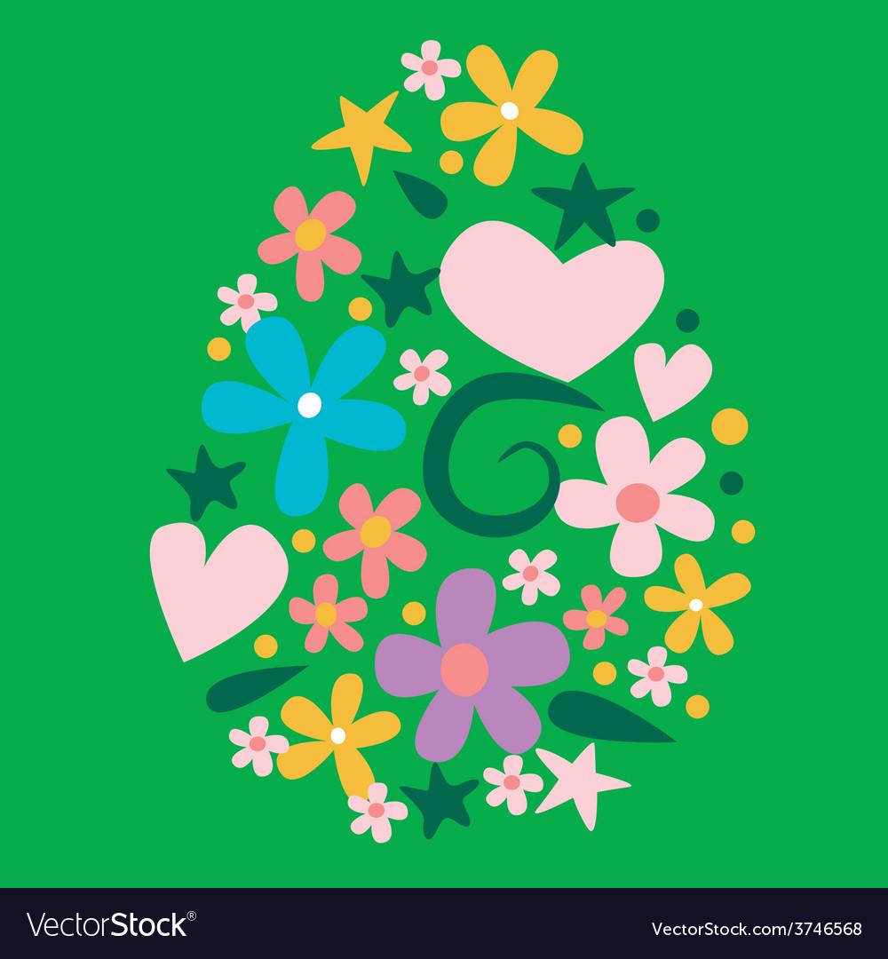 Floral easter design vector | Price: 1 Credit (USD $1)
