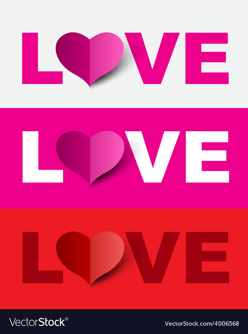 Love design set vector | Price: 1 Credit (USD $1)